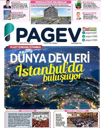 PlastEurasia 2016 PAGEV Fuar Gazetesi Sayı 5
