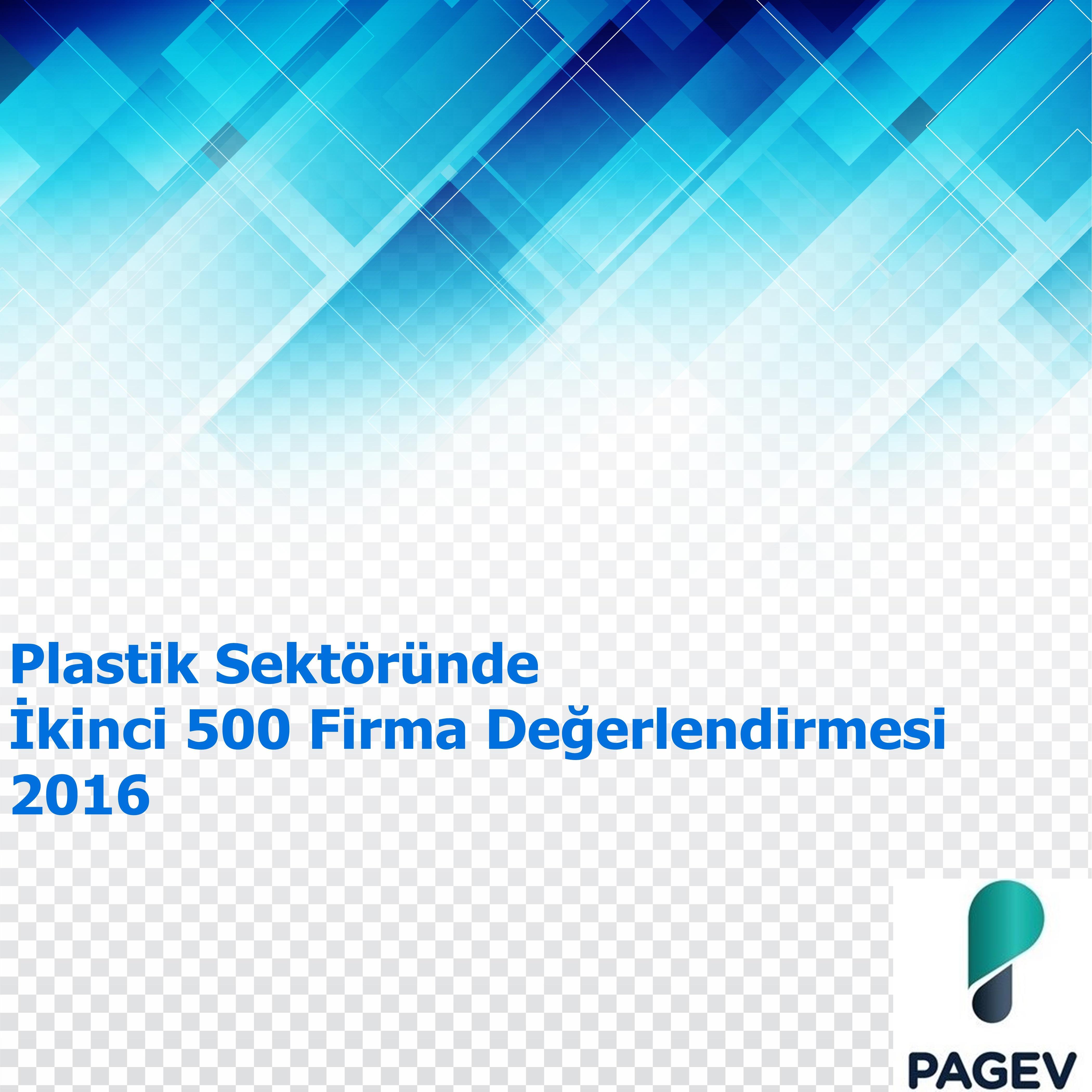 Plastik Sektöründe İkinci 500 Firma Değerlendirmesi - 2016