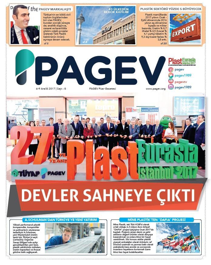 PlastEurasia 2017 PAGEV Fuar Gazetesi Sayı 8